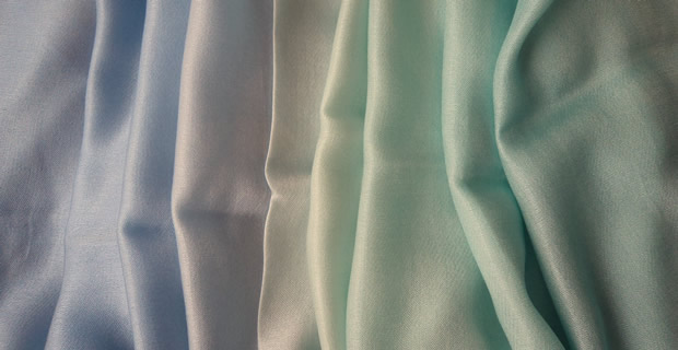 Pashmina Cashmere & Silk Shaded Lightweight Shawl - Sky Blue to Pale Aqua